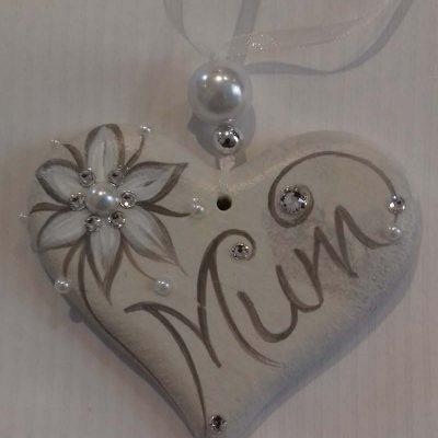 Mum Hanging Heart Gift