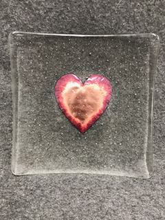 Copper Heart Dish