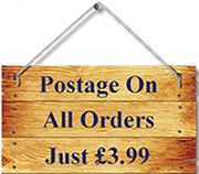 postage on all orders just £3.99
